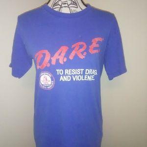 Vintage 90's D.A.R.E Shirt Sz S Owensboro KY